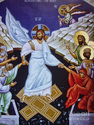 Pentecost Painting - Resurrection Of Jesus Christ Icon by Ryszard Sleczka