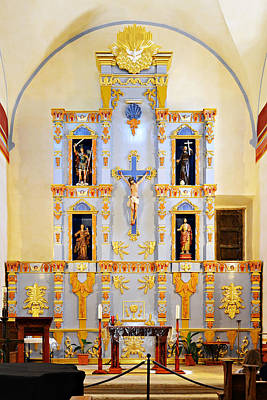 Saint Michael Photograph - Retablo Mission San Jose by Christine Till