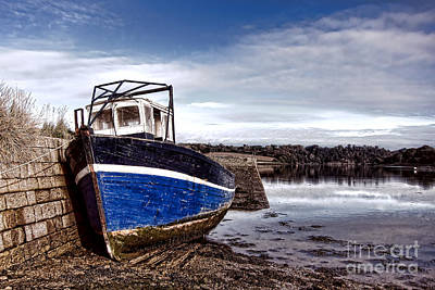 Estuary Photograph - Retired Boat by Olivier Le Queinec