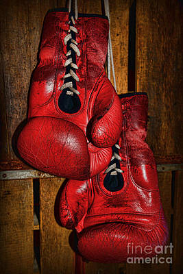 Retired Boxing Gloves Print by Paul Ward