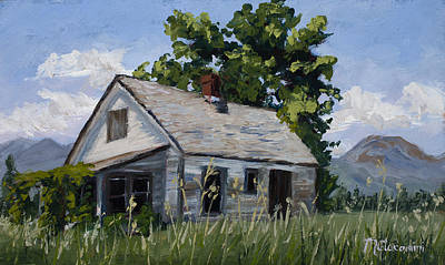 Abandoned Farm House Painting - Retired by Mary Giacomini