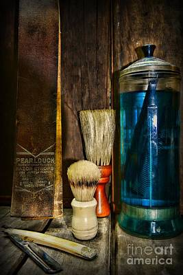 Barber Shop Photograph - Retro Barber Tools by Paul Ward