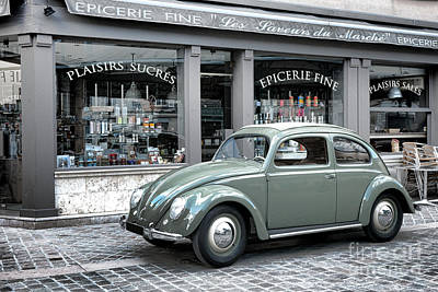 Grocery Photograph - Retro Beetle by Olivier Le Queinec