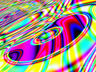 Retro Cd Or Dvd Background - Version 1 Print by Shazam Images