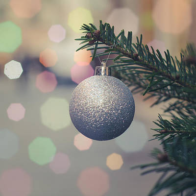 Christmas Lights Photograph - Retro Christmas Tree Decoration by Mr Doomits