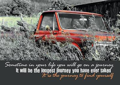 Truck Photograph - Retro Ford Quote by JAMART Photography