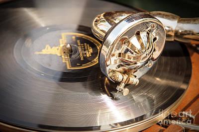 Retro Gramophone Head Print by Aleksey Tugolukov