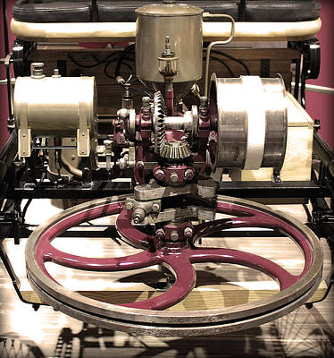 Retro Mercedes Engine Print by Radoslav Nedelchev