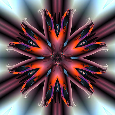 Contemporary Abstract Digital Art - Retro Passion by Claude McCoy