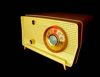 Retro Radio Print by Jim Hughes