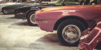 Retro Styled Image Of Muscle Cars Print by Martin Bergsma