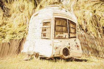 Art Mobile Photograph - Retrod The Comic Caravan by Jorgo Photography - Wall Art Gallery