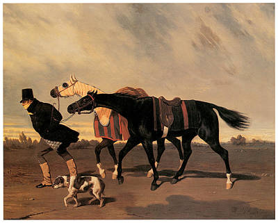 Return From The Race Print by Alfred De Dreux