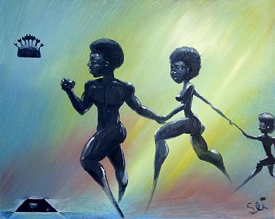 African Art Painting - Return To The Throne by Sean Ivy aka Afro Art Ivy