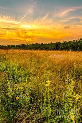 Retzer Prairie Sunset Print by Andrew Slater