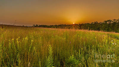 The Nature Center Photograph - Retzer Sunset by Andrew Slater