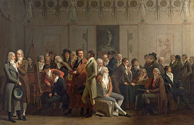 1835 Photograph - Reunion Of Artists In The Studio Of Isabey, 1798 Oil On Canvas by Louis Leopold Boilly