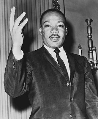 Negro Photograph - Rev. Martin Luther King by Dick DeMarsico