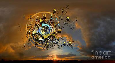 Explosion Digital Art - Revelation by Franziskus Pfleghart