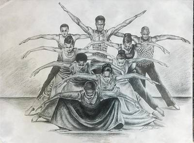 Alvin Ailey Drawing - Revelations by Alphonso Edwards II