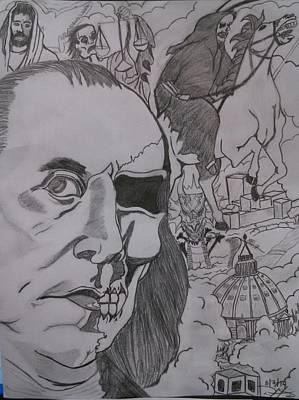 Benjamin Franklin Drawing - Revelations  by Dan Hernandez