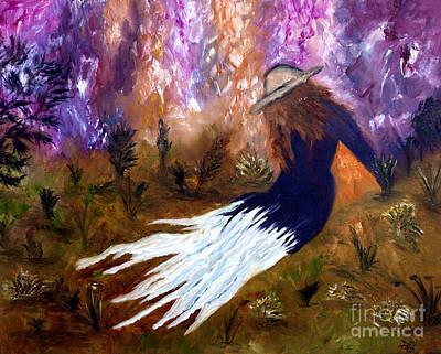 Florid Painting - Rever Dans Un Champ Impression  by Ayasha Loya