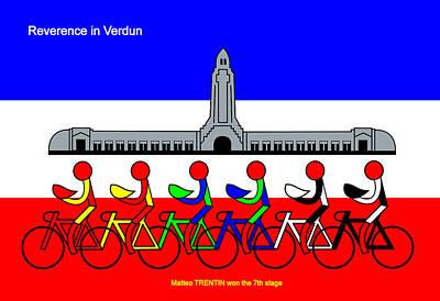 Digital Art - Reverence In Verdun by Asbjorn Lonvig