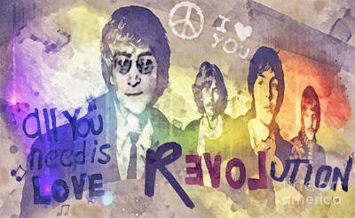 Paul Mccartney Mixed Media - Revolution by Mo T