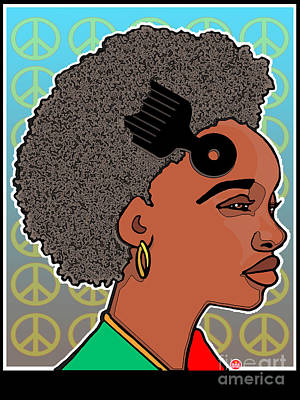 Revolutionary Fros Print by Sol Sketches