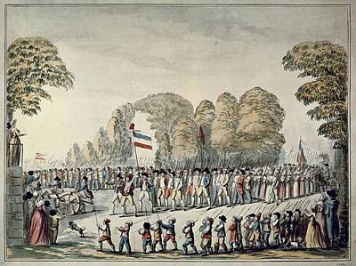 Revolutionary Procession. Etienne Print by Everett