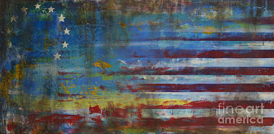 Abstract American Flag Painting - Revolutionary by Sean Hagan
