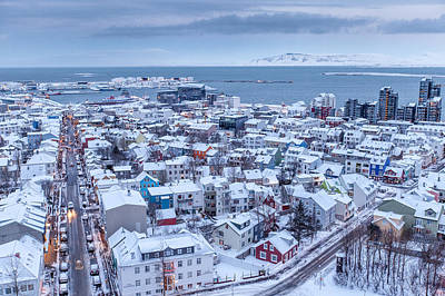 Photograph - Reykjavik Frosted White by John Pike
