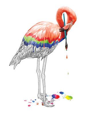 Rgb Photograph - Rgb Flamingo by Vanessa Bates
