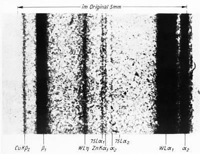 Rhenium Spectral Lines Print by Emilio Segre Visual Archives/american Institute Of Physics
