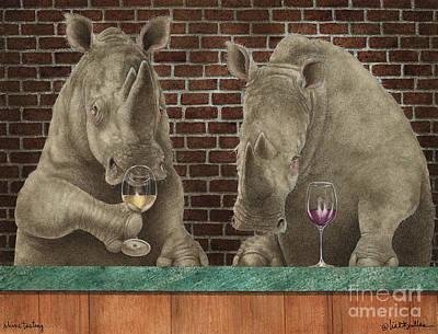 Rhino Painting - Rhine Tasting... by Will Bullas