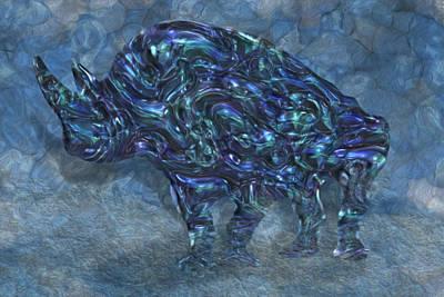 Rhinoceros Digital Art - Rhino 6 by Jack Zulli