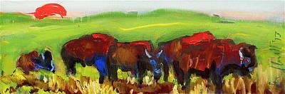 Rhino Buffalo Original by Les Leffingwell