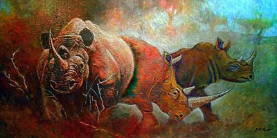 Rhino Walk Original by Michael Durst