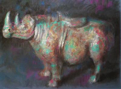 Rhinocerus Drawing - Rhinocerus by Paez  Antonio