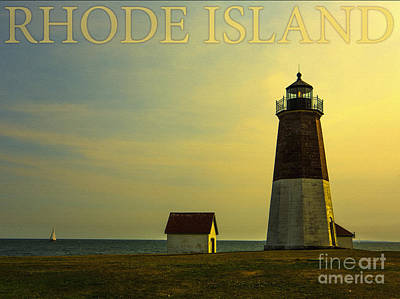 Sailboat Photograph - Rhode Island Lighthouse by Diane Diederich
