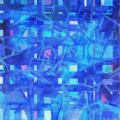 Abstract Painting - Rhythm In Blue by Regina Valluzzi