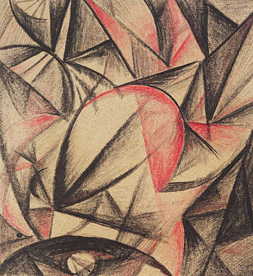 Crayons Drawing - Rhythm Of Forms by Alexander Bogomazov