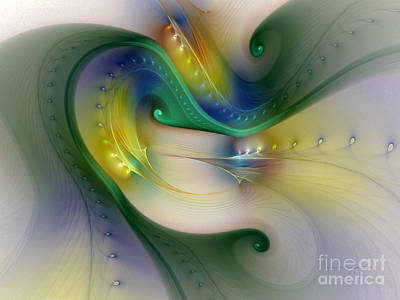 Rhythm Of Life-abstract Fractal Art Print by Karin Kuhlmann
