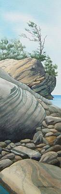 Windblown Painting - Rhythms In Rock by Karen Richardson