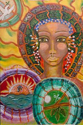 Visionary Art Painting - Rhythms Of Transition by Havi Mandell