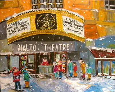Painting - Rialto Theatre 1956 by Michael Litvack