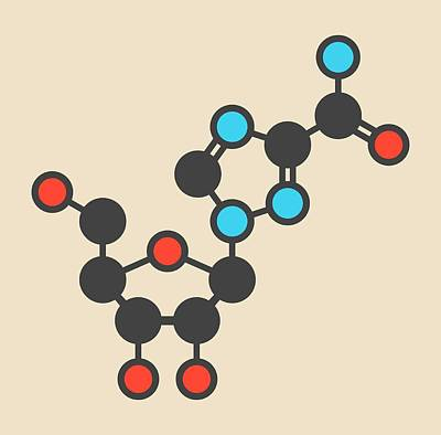 Viral Photograph - Ribavirin Antiviral Drug Molecule by Molekuul