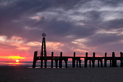 Ribbles Remnants At Lytham Print by Chris Frost