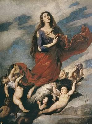 1636 Photograph - Ribera, Jos� 1588-1652. Ecstasy Of Mary by Everett