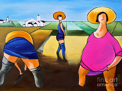 Cain Painting - Rice Pullers by William Cain